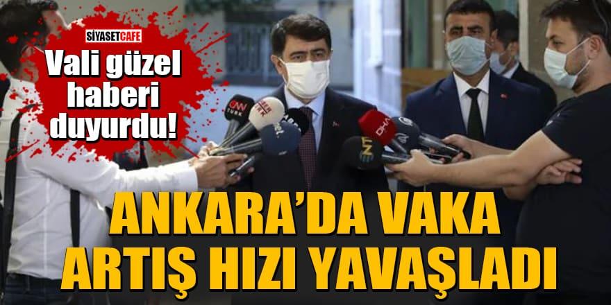 Vali güzel haberi duyurdu!Ankara'da vaka artış hızı yavaşladı
