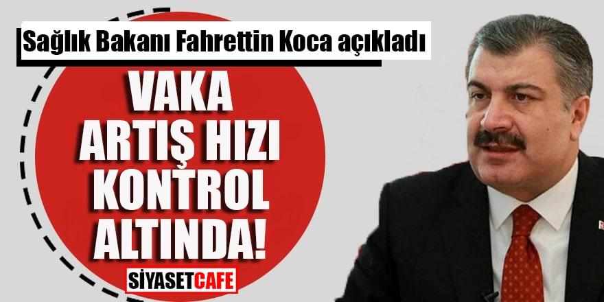 """Sağlık Bakanı Fahrettin Koca: """"Vaka artış hızı kontrol altında!"""""""