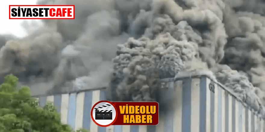 Çinli teknoloji devi Huawei şirketinin fabrikası yanıyor