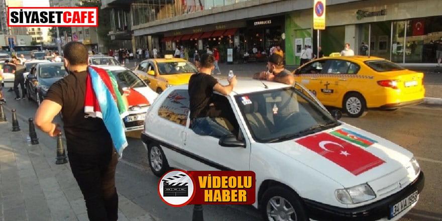 Taksim'de Ermenistan protestosu