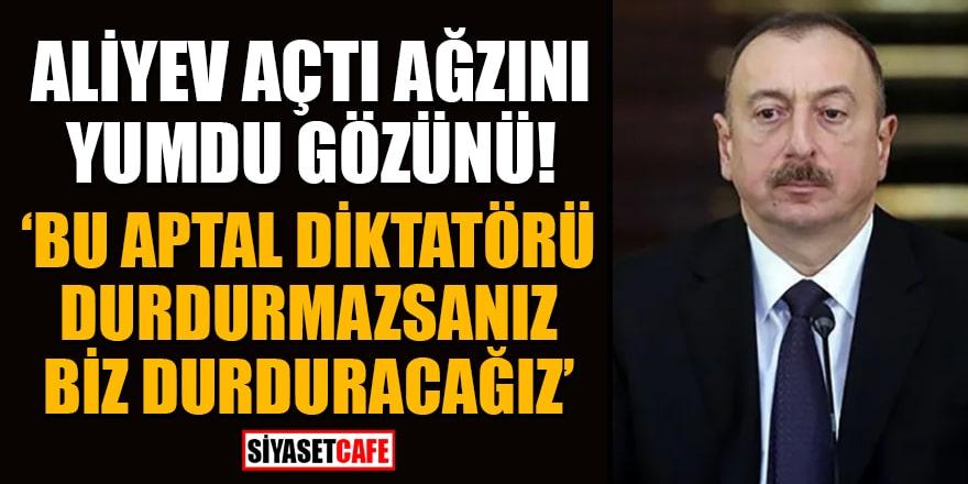 Azerbaycan Cumhurbaşkanı Aliyev açtı ağzını yumdu gözünü!'Bu aptal diktatörü durdurmazsanız biz durduracağız'