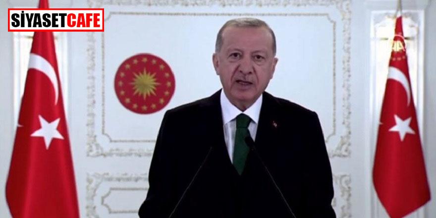 """Erdoğan: """"İklim değişikliği ile mücadelede ön saflardayız"""""""