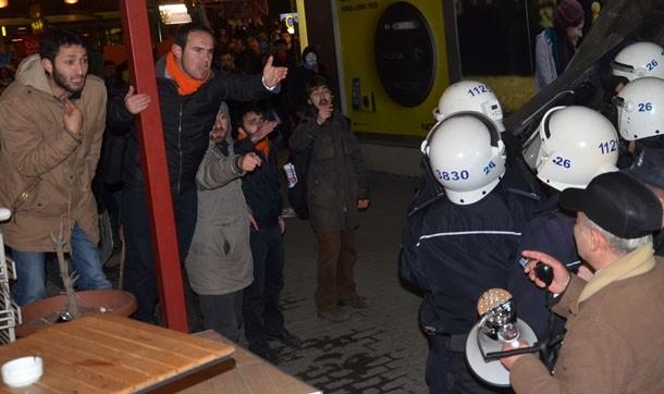 Eskişehir'de tape eyleminde olaylar çıktı