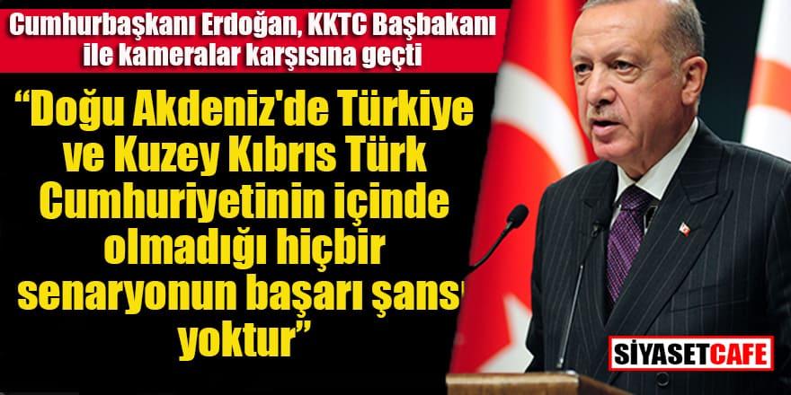 Erdoğan KKTC Başbakanı ile bir araya geldi