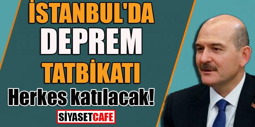 İstanbul'da deprem tatbikatı: Herkes katılacak!