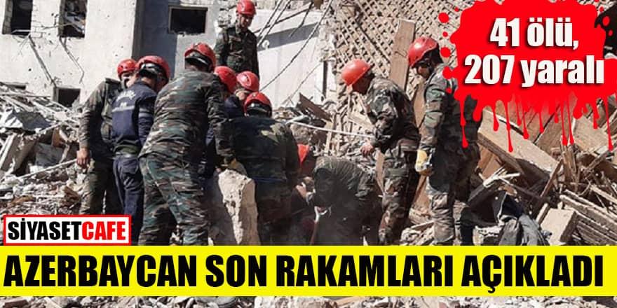 Azerbaycan Gence saldırısının güncel rakamlarını paylaştı