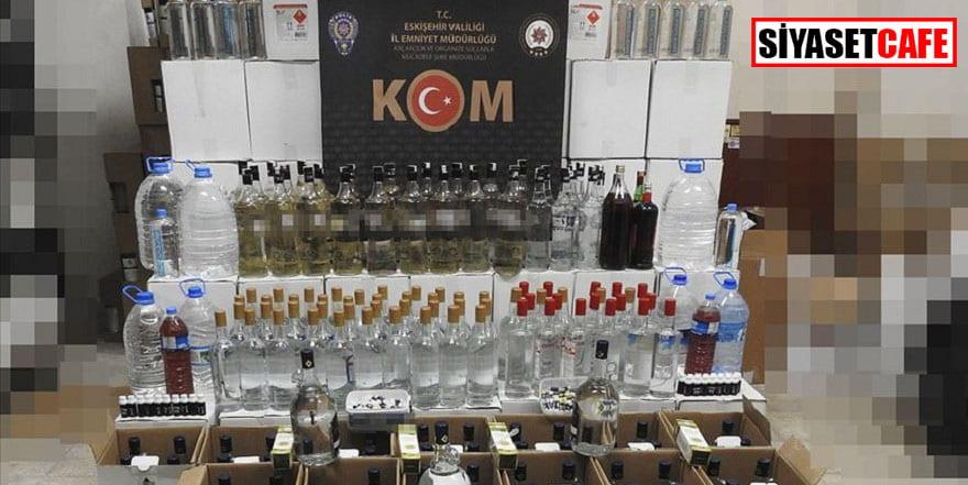 Eskişehir'de sahte ve kaçak içki operasyonu