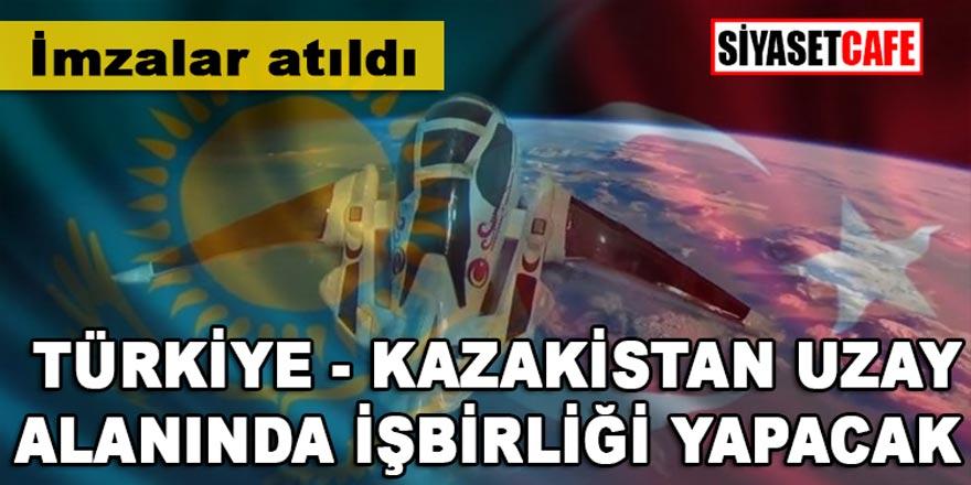 Son dakika..Mutakabat zaptı imzalandı,Türkiye-Kazakistan uzay alanında işbirliği yapacak