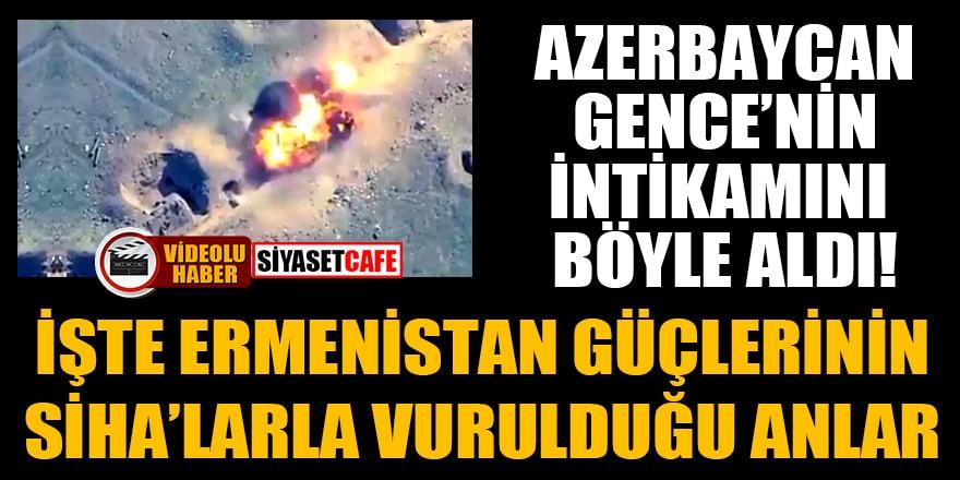 Azerbaycan, Gence'nin intikamını böyle aldı! İşte Ermenistan güçlerinin SİHA'larla vurulduğu anlar