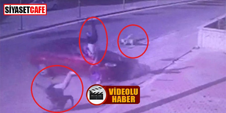 Baba ve oğulun öldüğü kaza kamerada