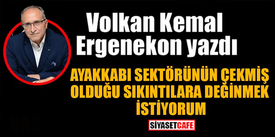 Volkan Kemal Ergenekon yazdı: Ayakkabı sektörünün çekmiş olduğu sıkıntılara değinmek istiyorum