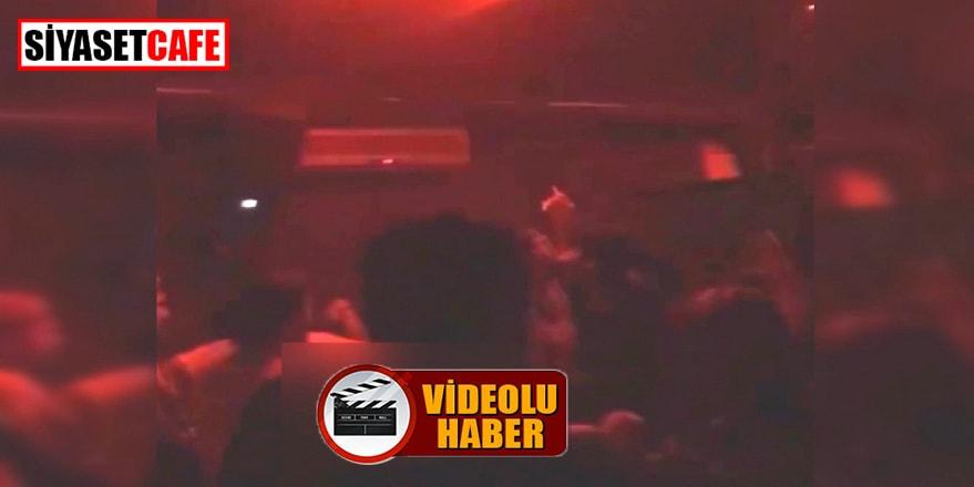 Sakarya'da bir gece kulübünde yaşanan inanılmaz görüntüler