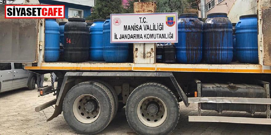 Jandarma 20 ton sahte içki ele geçirdi