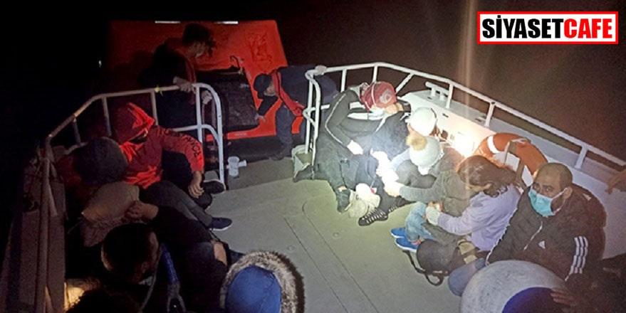 Datça'da 16 sığınmacı kurtarıldı