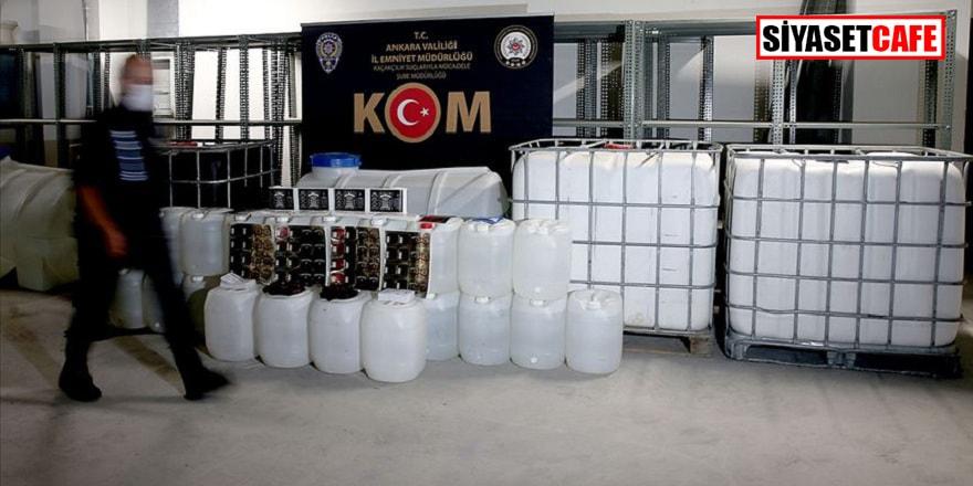 1 milyon 20 bin 819 litre kaçak içki ele geçirildi