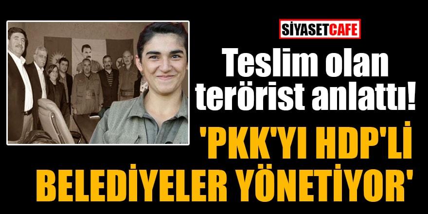 Teslim olan terörist anlattı! 'PKK'yı HDP'li belediyeler yönetiyor'