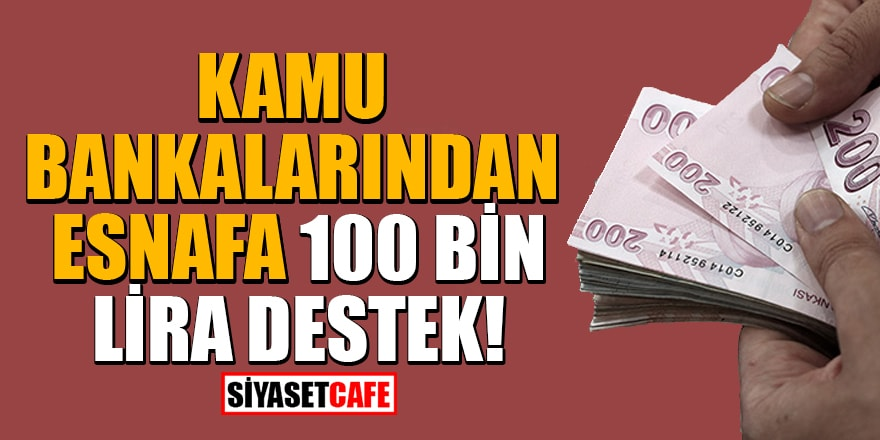 Kamu bankalarından esnafa 100 Bin Lira destek!