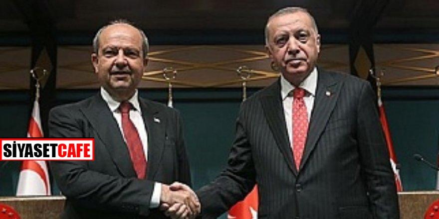 Cumhurbaşkanı Erdoğan, KKTC Cumhurbaşkanı Ersin Tarar'dan önemli açıklamalar