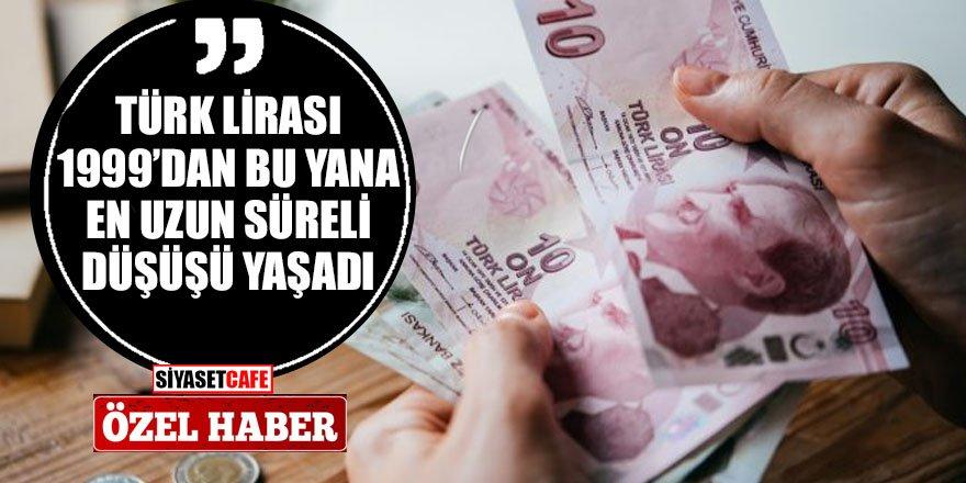 Türk lirası değer kaybediyor! 1999'dan bu yana en uzun süreli düşüş...