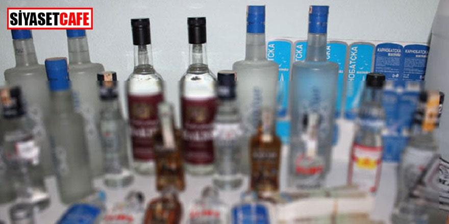 Şişli'de sahte içki operasyonu