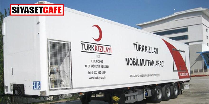 Kızılay'dan deprem bölgesine mobil mutfak desteği