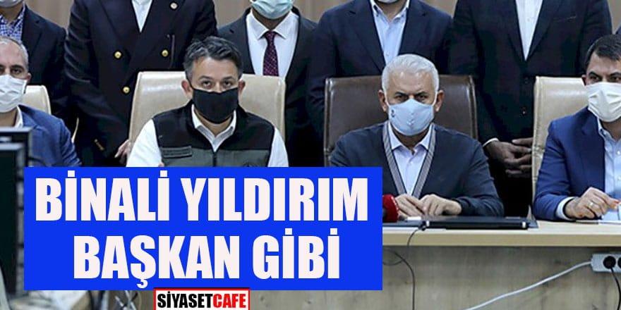 Binali Yıldırım İzmir'de Başbakan gibi konuştu