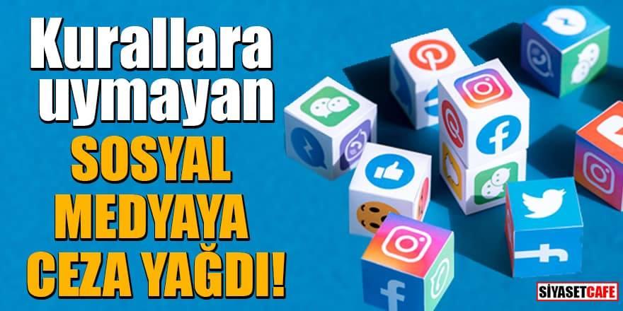 Twitter, Facebook, Instagram, Periscope, Tiktok ve YouTube'ye 10'ar milyon ceza