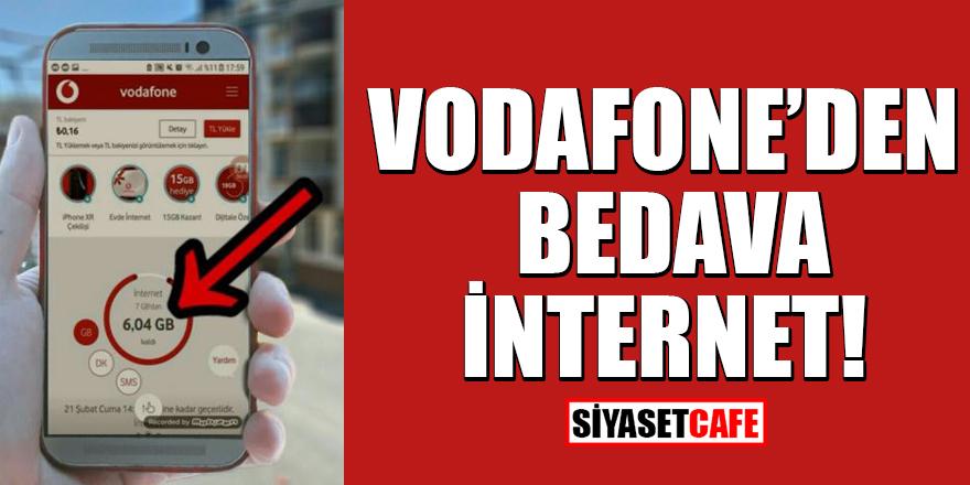 Vodafone'den bedava internet nasıl kazanılır?