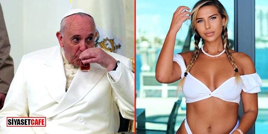 Papa Francis seksi modele 'like' attı! Sosyal medya yıkıldı: Cennete gideceğim