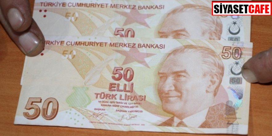 50 TL'lik banknotu 50 bin TL'ye satıyor