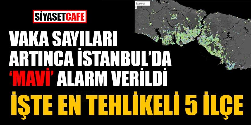 Vaka sayıları artınca İstanbul'da 'mavi' alarm verildi! İşte en tehlikeli 5 ilçe