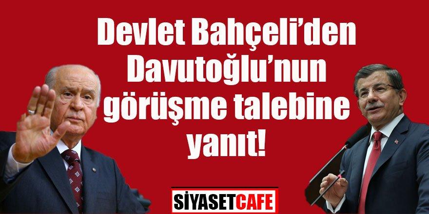 Devlet Bahçeli'den Ahmet Davutoğlu'nun görüşme talebine yanıt