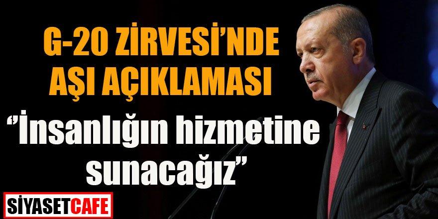 Son dakika: Erdoğan'dan G-20 zirvesinde aşı açıklaması
