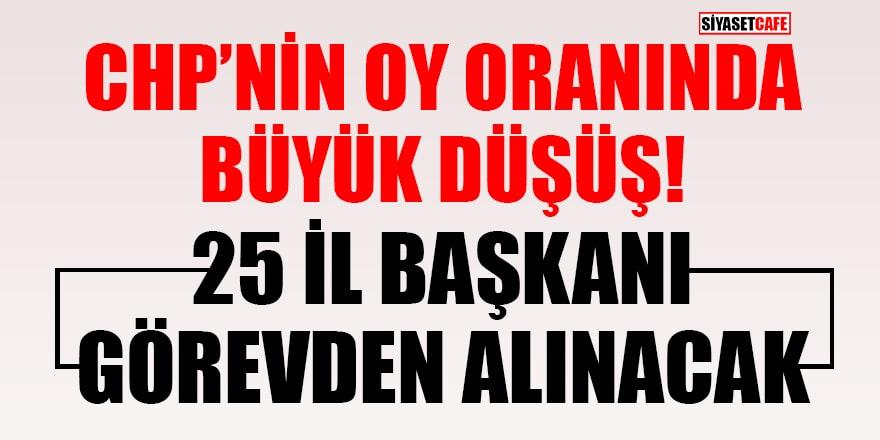'CHP'de 25 il başkanı görevden alınacak' iddiası