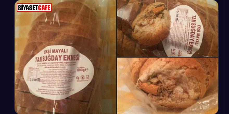 BİM'de satılan ekmeğin içinden sigara izmariti çıktı!