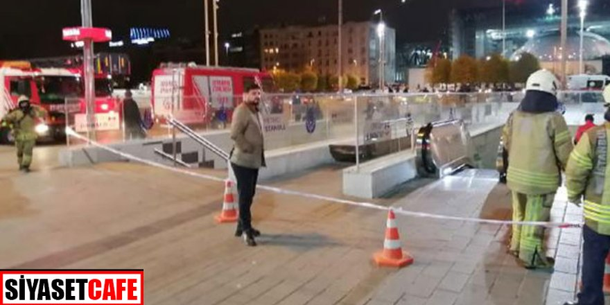 Canlı bomba alarmı! Taksim'de metro istasyonu kapatıldı