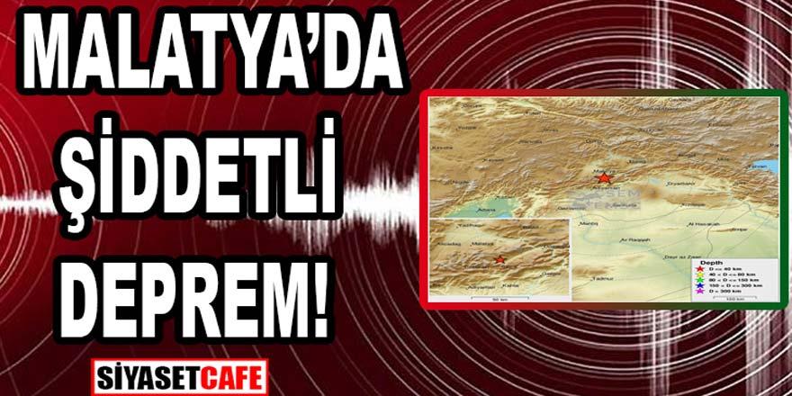 Son dakika: Malatya'da şiddetli deprem