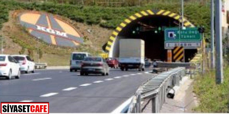 Tır alev aldı! Bolu Dağı tüneli İstanbul istikametine kapatıldı