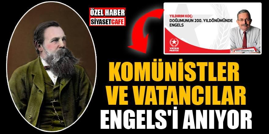 Komünistler ve Vatan Partililer Engels'i anıyor