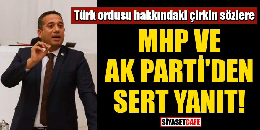 Türk ordusu hakkındaki çirkin sözlere MHP ve AK Parti'den sert yanıt!