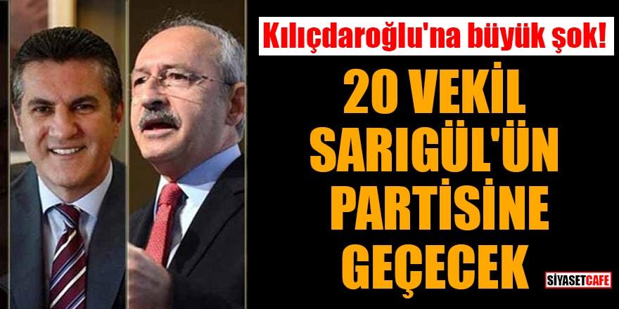 Kılıçdaroğlu'na büyük şok! 20 vekil Sarıgül'ün partisine geçecek