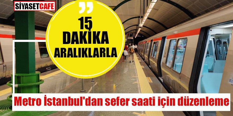 Metro İstanbul'dan sefer saati için düzenleme