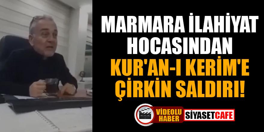 Bu görüntüler infial yarattı! Marmara İlahiyat hocası Mustafa Öztürk'ten Kur'an-ı Kerim'e çirkin saldırı