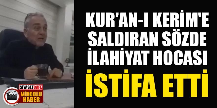 Kur'an-ı Kerim'e saldıran Marmara İlahiyat hocası Mustafa Öztürk istifa etti