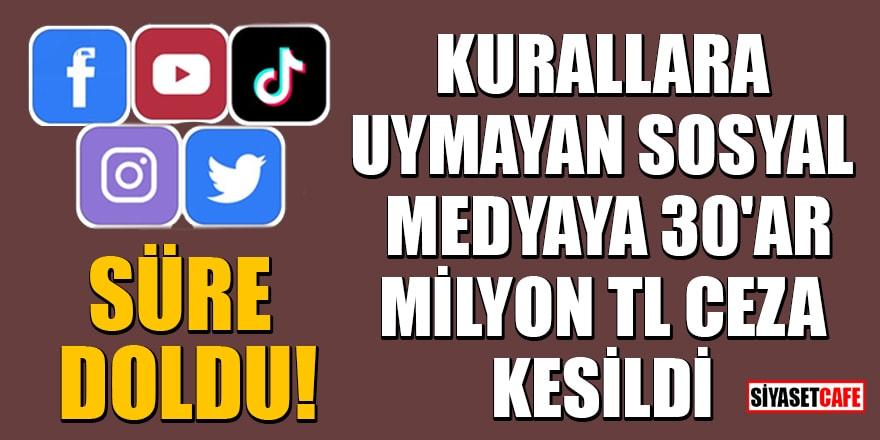 Süre doldu! Twitter, Facebook, Instagram, Tiktok ve YouTube'ye 30'ar milyon TL ceza kesildi