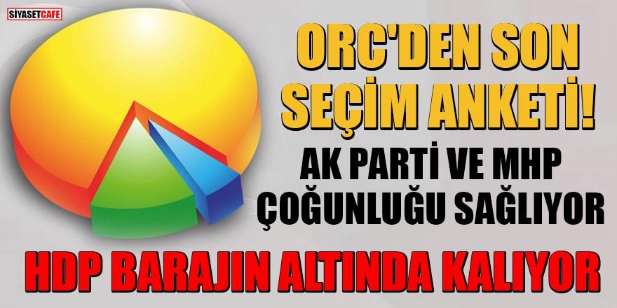 ORC'den son seçim anketi: AK Parti ve MHP çoğunluğu sağlıyor, HDP barajın altında kalıyor