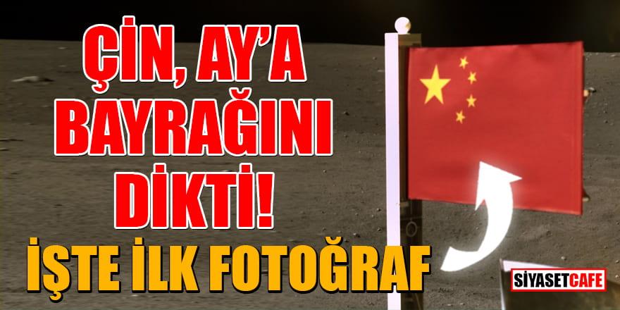 Çin, Ay'a bayrağını dikti: İşte ilk fotoğraf