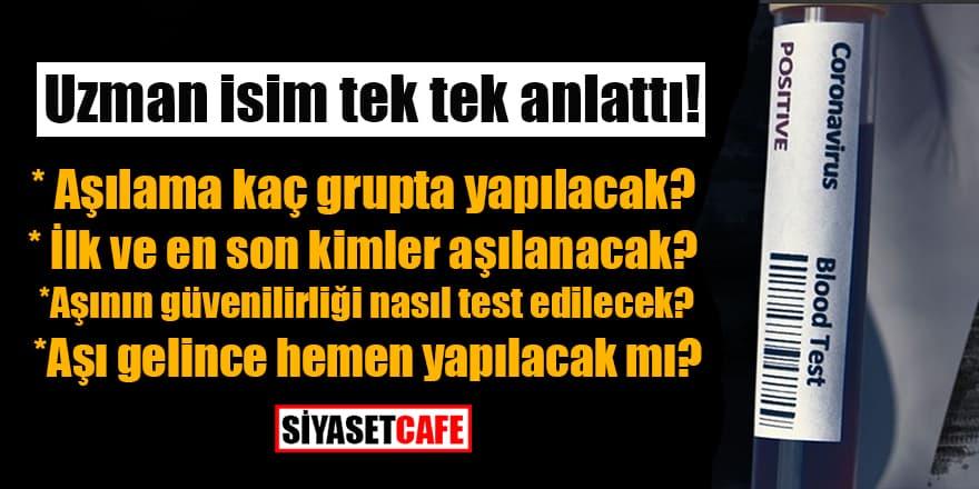 Uzman isim tek tek anlattı! İşte Türkiye'nin aşı stratejisi