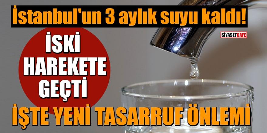 İstanbul'un 3 aylık suyu kaldı! İSKİ harekete geçti: İşte yeni tasarruf önlemi