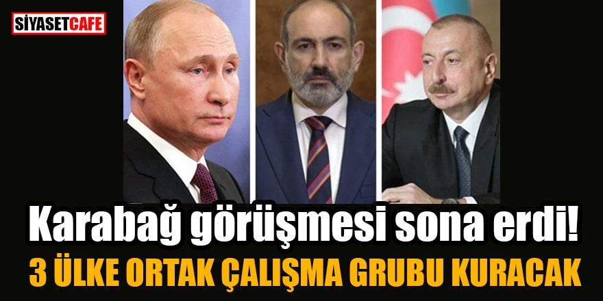 Putin, Aliyev ve Paşinyan'ın Karabağ görüşmesi sona erdi! 3 ülke ortak çalışma grubu kuracak